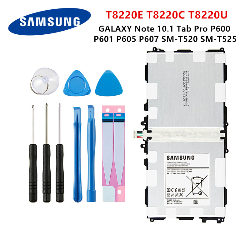 SAMSUNG Orginal Tablet T8220E T8220C/U Battery 8220mAh For Samsung GALAXY Note 10.1 Tab Pro P600 P601 P605 P607 T520 T525 +Tools