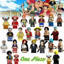 Figurines une pièce Luffy Ace Brook Chopper Robin Sakazuki Edward Franky Dragon Ball blocs de construction figurine Action enfants jouets cadeaux(China)