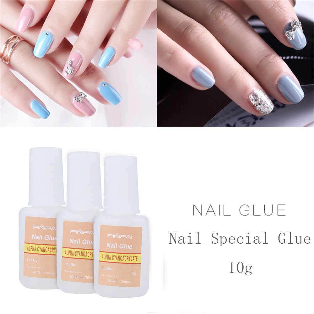 10g DIY Kit de pegamento de manicura fuerte para uñas puntas falsas acrílico decoración de uñas herramienta de manicura adhesivo para arte de uñas X #3
