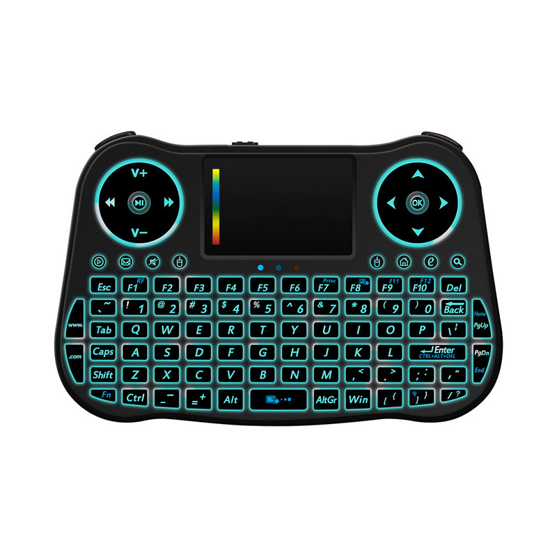 MT08 2.4GHz Air Mouse Wireless Touchpad Keyboard QWERTY Backlit For TV Box PC Android