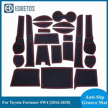 Anti-Slip Gate Slot Cup Mat For Toyota Fortuner SW4 2016 2017 2018 Rubber Coaster Accessories 20Pcs Cup Cushion Car Styling image