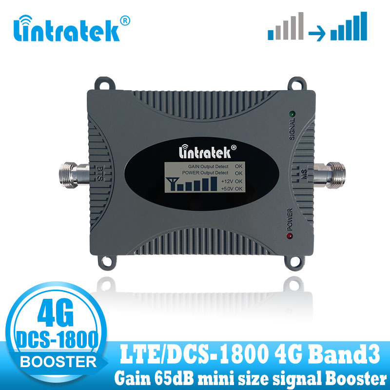 Lintratek Dcs 4g Repeater Signal Booster Lte 1800mhz Celluar Cell Phone Signal Amplifier 4g 1800 Dcs Internet Network Repeater