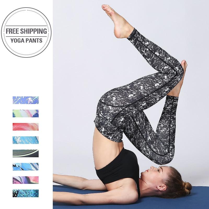 Женские спортивные Леггинсы с высокой талией, эластичные длинные колготки для фитнеса, для бега, живота, 2019|Штаны для йоги|   | АлиЭкспресс
