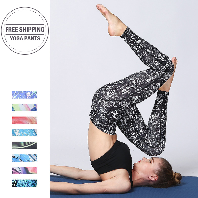 2019 SEXY Prints Women Yoga Pants High waist Sport Women Leggings Gym Elastic Fitness Long Tights for Girl Running Tummy Control