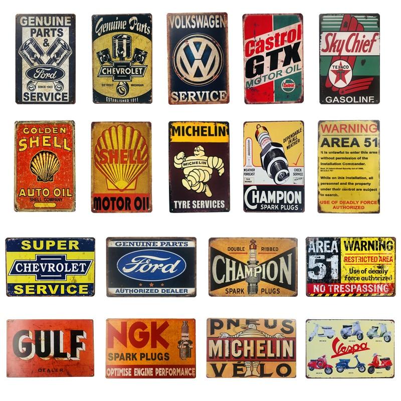Retro Vintage Letrero De Metal//cueva de hombre//Garaje White Star Gasolina