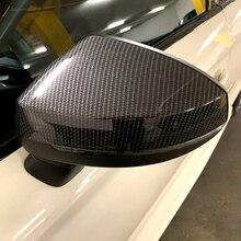 Für Audi A3 S3 8V RS3 2013 2014 2015 2016 2018 2017 2019 Rückspiegel Fall Abdeckung Carbon fiber muster Schwarz Abdeckung