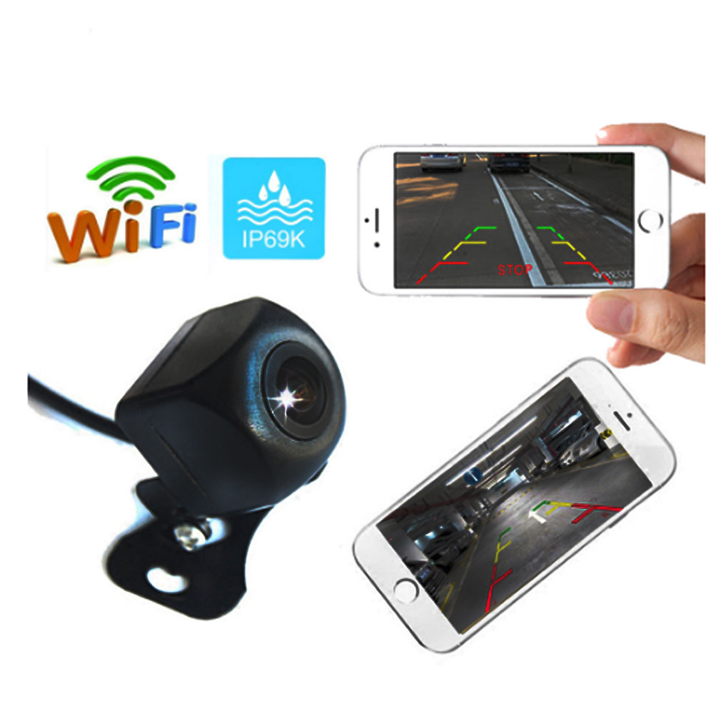BYNCG telecamera retrovisiva per auto senza fili WIFI telecamera retromarcia Dash Cam HD visione notturna Mini tachigrafo per iPhone e Android