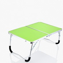 6 Color Laptop Double-Folding Square Computer Table Folding computer table PC Laptop Steel Table Writing Workstation Home Office