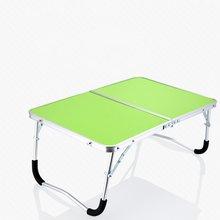 6 Color Laptop Double-Folding Square Computer Table Folding computer table PC Laptop Steel Table Writing Workstation Home Office