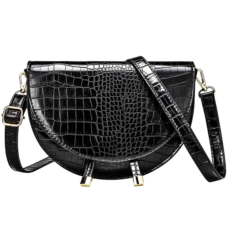Fashion Brand Women Bag Alligator PU Leather Messenger Bag Designer Lady Shoulder Crossbody Bag Stone Women Handbag Bolso Mujer