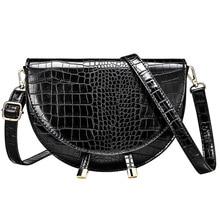Fashion Brand Women Bag Alligator PU Leather Messenger Designer Lady Shoulder Crossbody Stone Handbag Bolso Mujer