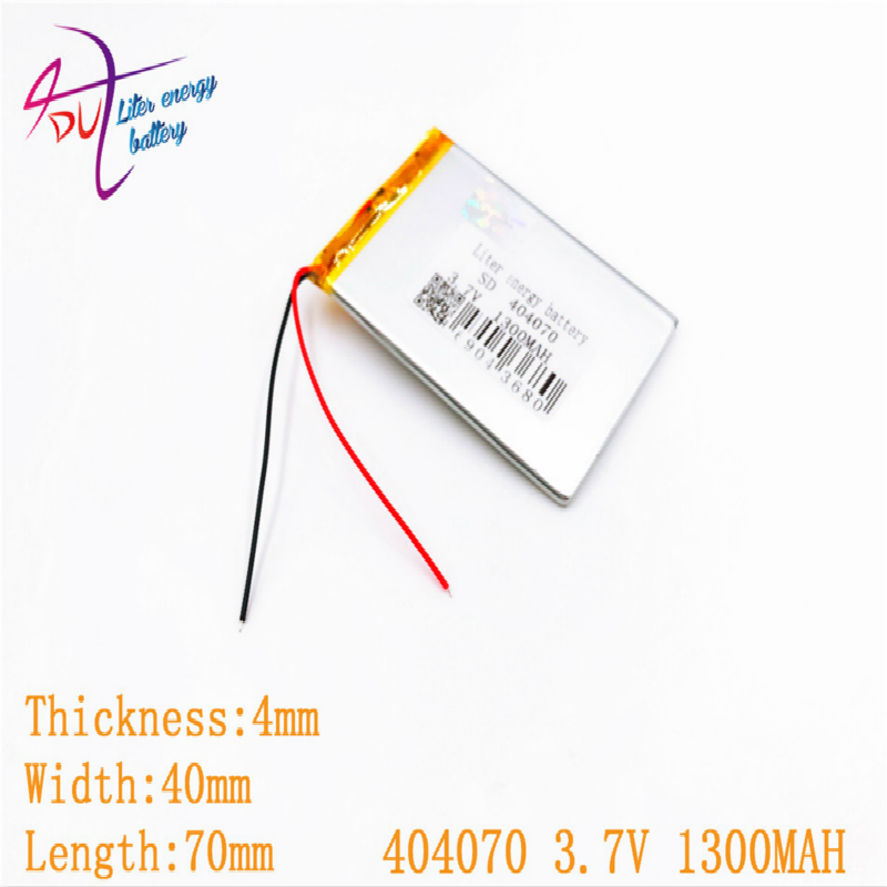 3.7V 1600mAh <font><b>404070</b></font> 354070 Lithium Polymer Li-Po Rechargeable DIY Battery For Mp3 MP4 MP5 GPS PSP mobile electronic part image