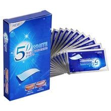 M'J 5D Gel bandes de blanchiment des dents kit dentaire de dents blanches bande de soins d'hygiène buccale pour fausses dents