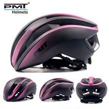 PMT 새로운 자전거 헬멧 통합 성형 사이클링 헬멧 통기성 도로 산 MTB 자전거 헬멧