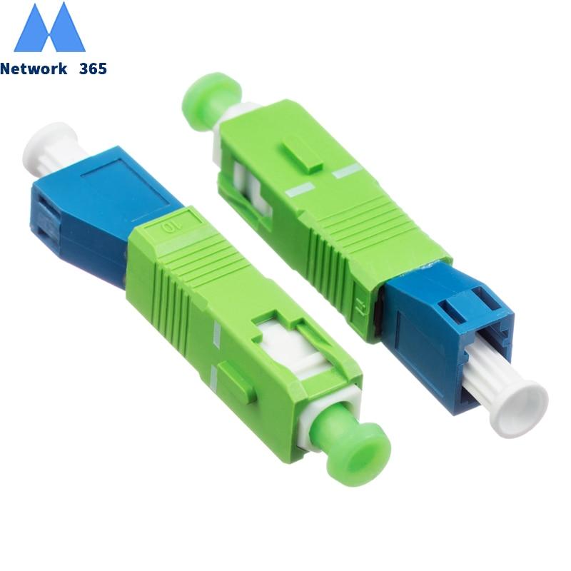 Free Shipping 2pcs/lot SC  Male To LC Female Hybrid Fiber Optic Adapter Fiber Connector SC/APC-LC/UPC Singlemode Optical Adapter