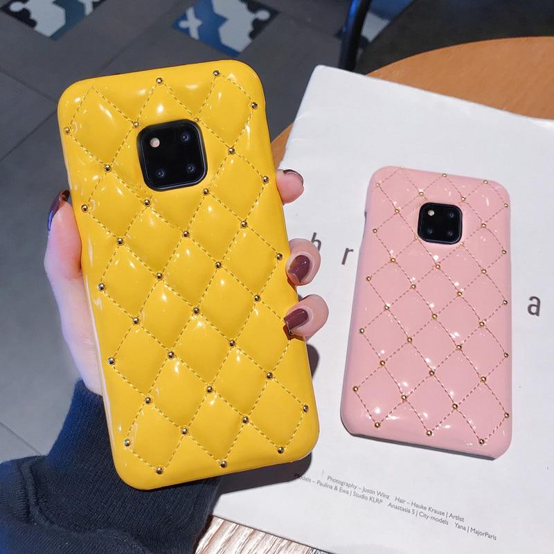 Чехол из искусственной кожи для Huawei P40, роскошный блестящий чехол для Huawei Mate 20 30 Pro P20 P30 P40 Pro, задняя крышка, чехол для телефона