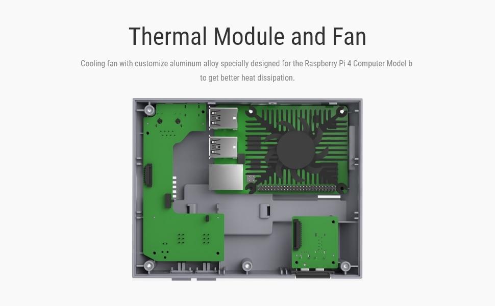 custodia SSD interruttore splitter HDMI ventola di raffreddamento e dissipatori di calore e controller di gioco USB cablati per Raspberry Pi 4 owootecc Custodia RETROFLAG NESPi 4 per Raspberry Pi 4