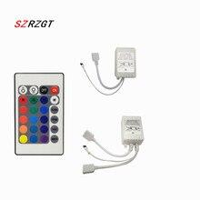 Remote-Dimmer Controler-Box Led-Strip-Lights 24-Keys 5050 IR DC12V for RGB 3528