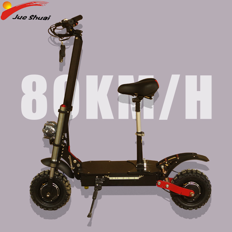 High Speed 80KM/H <font><b>3200W</b></font> Electric <font><b>Scooter</b></font> for Adults Doulbe Engine Dual Motor Wheel 11inch Off Road Fat Tire Electric Skateboard image