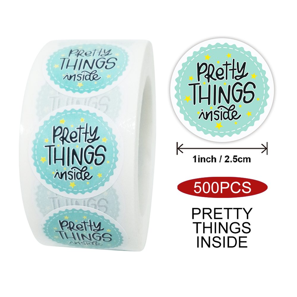500Pc Thank you for Supporting My Small Business Stickers Sealing Label Seals uk