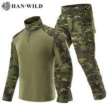 T-Shirts Multicam Combat-Sets Tactical-Uniform Wild-Hunting-Suit Camouflage Cargo Army