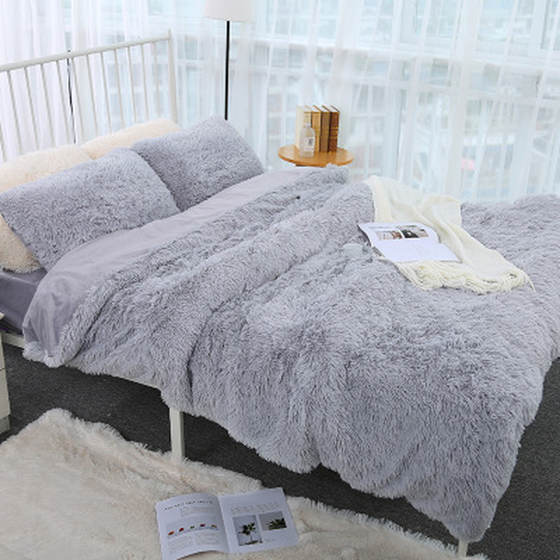 New Luxury Long Shaggy Throw Blanket Bedding Sheet Large Size Warm Soft A Blanket Thick Fluffy Sofa Office Weighted Blanket