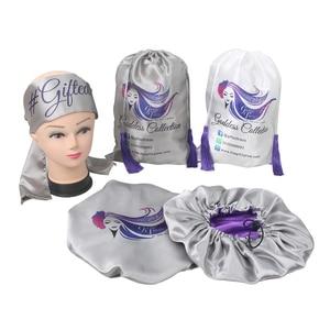 Индивидуальный логотип, накладные волосы, упаковка, дополнительный размер, атласные повязки на голову, большие сетчатые парики, сумки, двой...