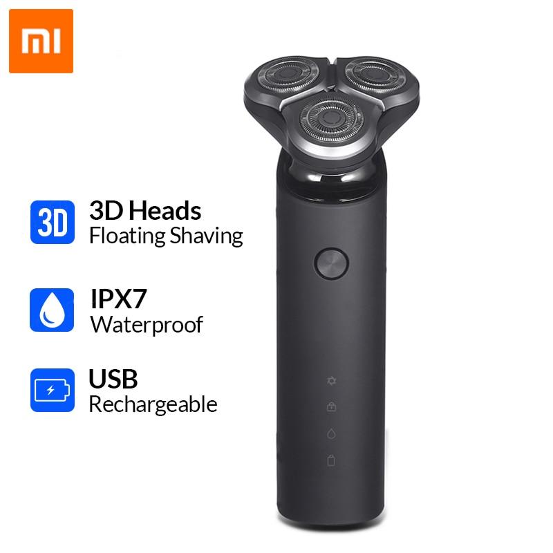 Xiaomi Mijia Electric Shaver For Men Rechargeable Flex Razor 3 Head Dry Wet Shaving Machine Beard Trimmer Washable Dual Blade
