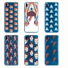 David Bowie Case Blackstar Starman Cool Painting Soft Silicone Transparent TPU for Huawei Y9 Y7 Y6 Pro Prime Y5