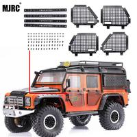 4pcs Metal Foldable Car Window Protective Net For 1/10 Rc Crawler Car Defender Traxxas Trx4 T4 TRX 4 Window Guard Net Guardrai Parts & Accessories     -