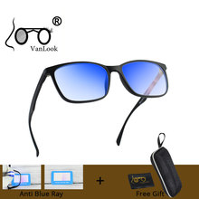 VANLOOK Анти Blue Ray светильник Блокировка компьютерные очки прозрачные игры негабаритных для мужчин женщин Винтаж рамки Kacamata анти радиус