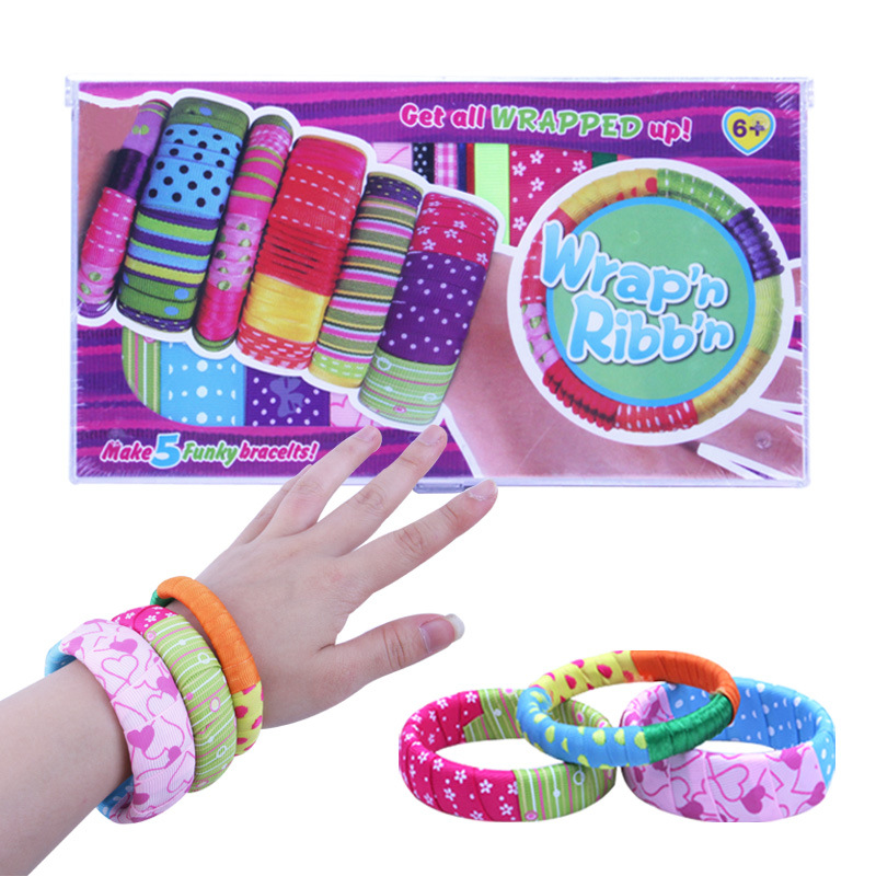 Hot Selling New Style DIY GIRL'S Ribbon Bracelet Fabric Accessories Bracelet Art Work Creative Toy