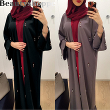Clothing Cardigan Kaftan Dubai Abaya Robe-Gown Kimono Turkey Muslim-Dress Ramadan Open