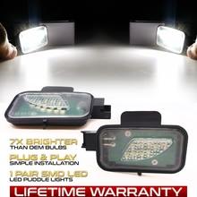 2 Pieces LED Under Side Mirror Light Puddle Lamps For VW Arteon 3H7 Passat B8 3G2 Variant Alltrack 3G5 Super Bright 6000K White
