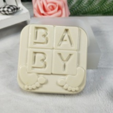 QT0265 PRZY Baby feet molds foot pattern Soap Molds Silicone Mold Clay Resin Gypsum Chocolate Candle Molds Soap Mould feet of clay