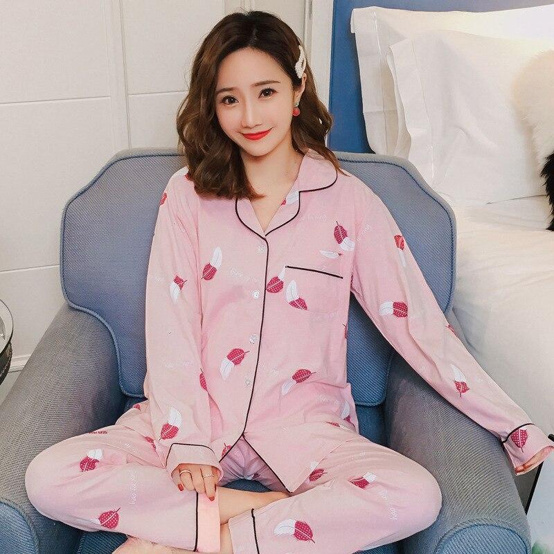 2019 Spring And Autumn Pure Cotton Pregnant Women Pajamas Postpartum Lactation Garment Tracksuit Cotton Confinement Clothing Set