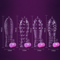 Vibrating Cock Rings Penis Ring Vibrator for Penis Enlargement Delay Condom Penis Sleeve Male Chastity Cage Sex Toy for Men