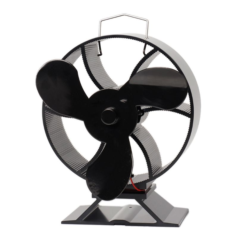 3 Blade Heat Powered Stove Fan For Wood Fireplace Log Burner Quiet Eco Friendly
