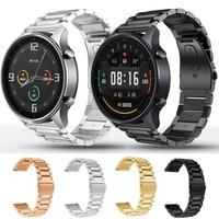 Per Xiaomi MI Watch colore e colore Sport cinturino in acciaio inossidabile cinturino a sgancio rapido cinturino da polso in metallo cinturino da 22mm