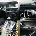 Для Audi A5 2008-2016 внутренняя Центральная панель управления дверная ручка наклейки из углеродного волокна наклейки аксессуары для стайлинга ав...