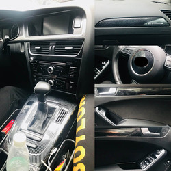 Para Audi A5 2008-2016 Panel de Control Central Interior manija de puerta de fibra de carbono pegatinas calcomanías de estilo de coche accessories
