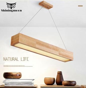 Подвесные светильники в скандинавском стиле, креативный деревянный Регулируемый подвесной светильник для кухни, столовой, кафе, лофт, подв...