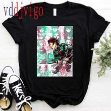 Demon Slayer Kimetsu No Yaiba T Shirt Men Cool Funny Manga Anime Tanjirou Rengoku Kamado T-shirt Harajuku Cartoon Tshirt Male
