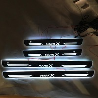 4PCS Welcome Pedal Car Exterior Parts LED Door Sill Scuff Dynamic Streamer light For reiz mark x
