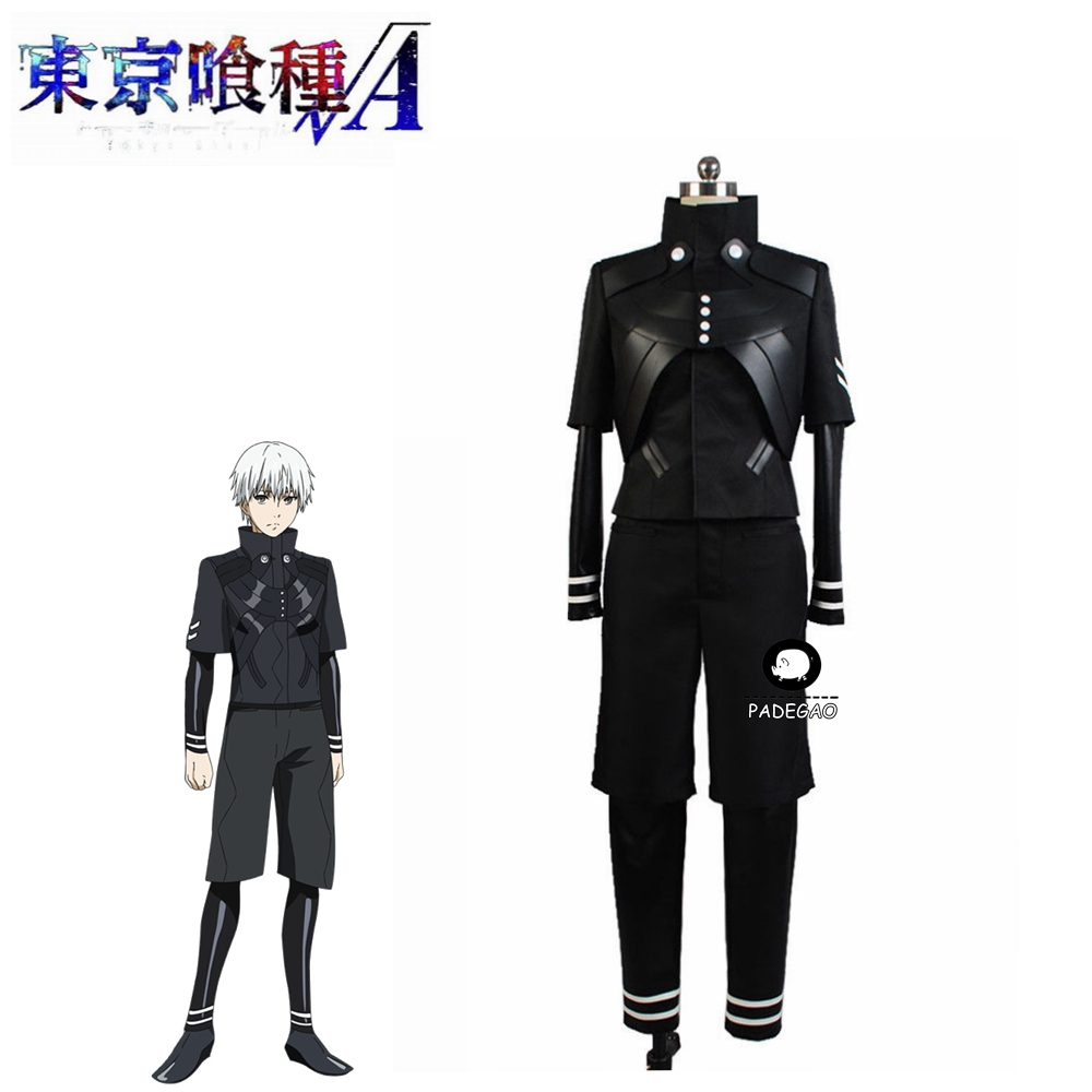 Tokyo Ghoul Cosplay Costume Ken Kaneki Cosplay Costume Jumpsuit Outfit Jacket Attire Set For Adult Male