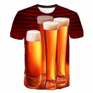 Распродажа Aliexpress, хит продаж, толстовка с капюшоном для мальчиков и мужчин, 3D футболка из молочного волокна с пузырьками для пива, одежда для родителей и детей, футбола, мужка