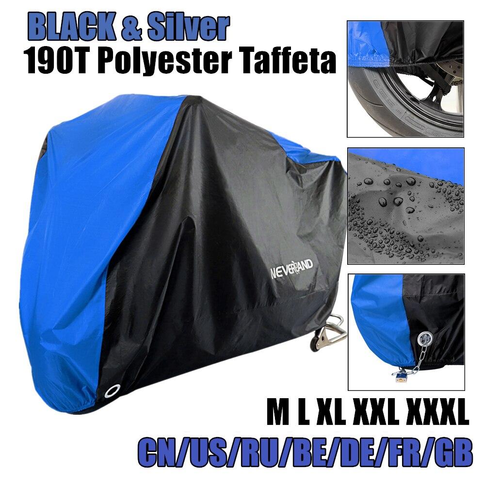 Motorfiets Cover Alle Seizoen Waterdicht Stofdicht Uv Protective Outdoor Indoor Lock-Gaten Ontwerp Motorbike Regen Covers Jas D45
