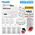 Беспроводная GSM-система охранной сигнализации Towode, 10 А, управление через приложение, защита дома, 850/900/1800 МГц, испанский/русский/английский я...