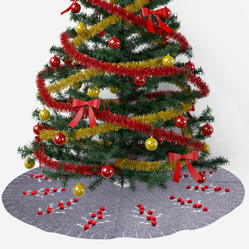 47.2-Inch Large Sized Christmas Tree Decoration Carpet Party Ornaments Christmas Decoration For Home Non-woven Xmas Decorations