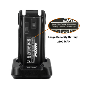 Image 3 - Baofeng Walkie Talkie Accessories BL 8 Battery for Baofeng UV 82 2800mAh Battery for UV82 Two Way Radio